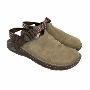 Chaco Toecoop Suede Leather Mules Clogs 9.5